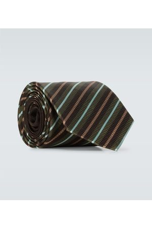 DRIES VAN NOTEN Corbata de seda de rayas