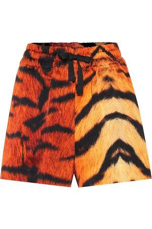 DRIES VAN NOTEN Shorts con estampado de tigre