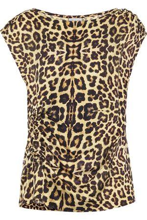 DRIES VAN NOTEN Top con estampado de leopardo