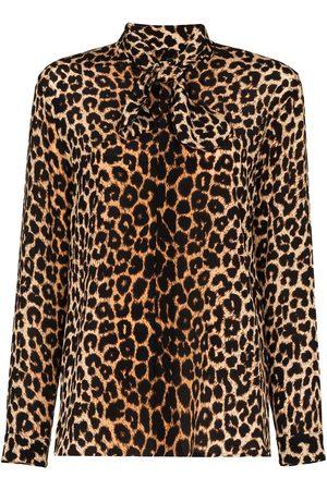 Saint Laurent Mujer Blusas - Blusa con estampado de leopardo