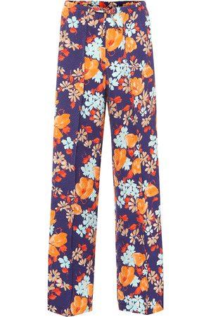 DRIES VAN NOTEN Pantalones anchos de jacquard floral