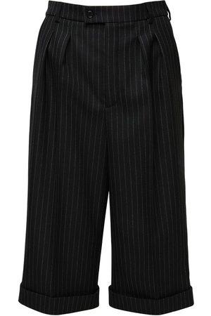 Saint Laurent | Mujer Pantalones De Gabardina De Raya Diplomática /gris 34