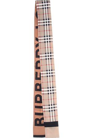 Burberry Pañuelo de seda de cuadros