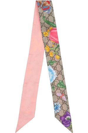 Gucci | Mujer Foulard De Seda Estampado Floral /rosa Unique