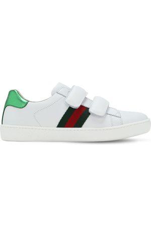 "Gucci | Niña Sneakers ""new Ace"" De Piel 33"