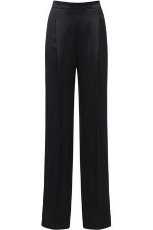 Max Mara | Mujer Pantalones Palazzo De Satén Crepé Doble 36