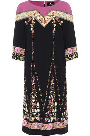 Etro Vestido de crepé elastizado floral