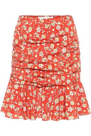 VERONICA BEARD Minifalda Taras de seda floral