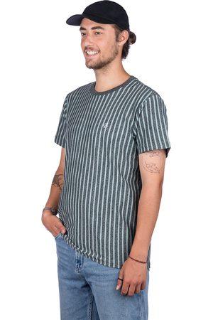 Huf Overdyed Vert Stripe T-Shirt gris