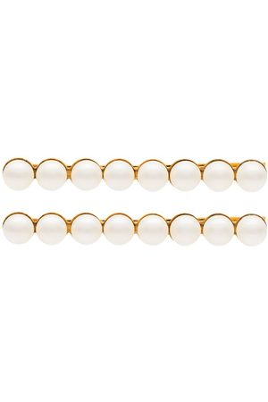 Jennifer Behr Set de dos pasadores para el pelo con apliques de perlas