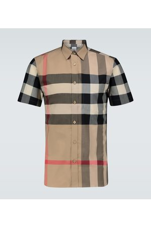 Burberry Camisa Somerton de cuadros