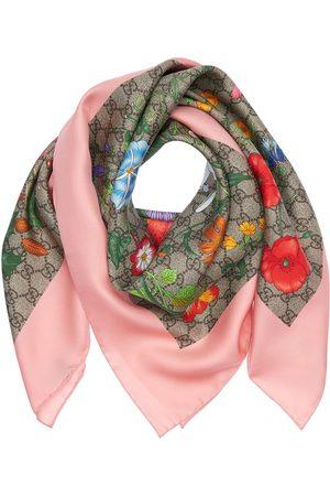 Gucci Mujer Bufandas y Pañuelos - | Mujer Pañuelo Cuadrado De Seda Estampado Floral /rosa Unique
