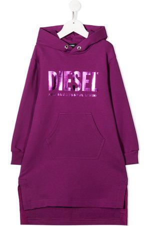 Diesel Vestido estilo sudadera con logo