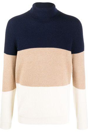 Brunello Cucinelli Colour-block roll neck jumper