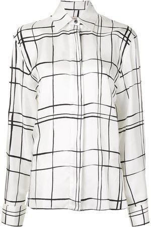 ALEXANDRE VAUTHIER Camisa a cuadros de manga larga