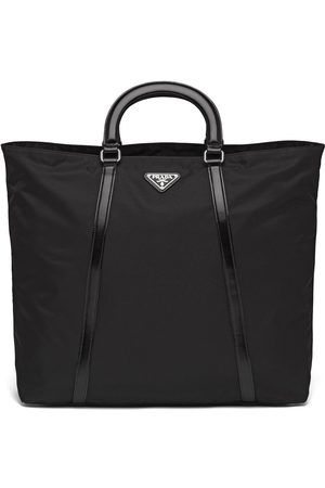Prada Large nylon triangle motif tote