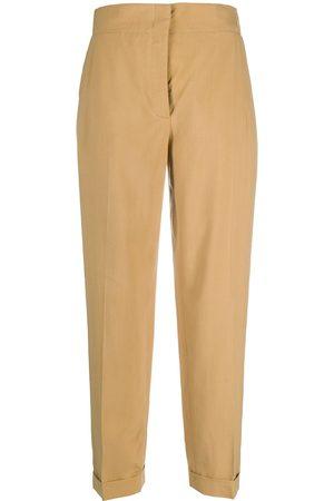 Salvatore Ferragamo Pantalones rectos de talle alto