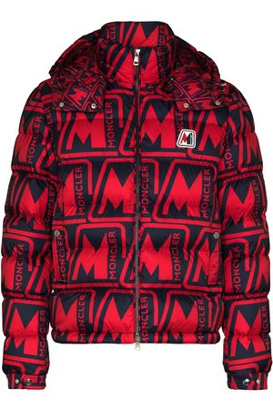 Moncler Frioland hooded logo-print down jacket