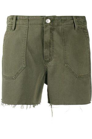 Paige Mujer Vaqueros - Pantalones vaqueros cortos deshilachados