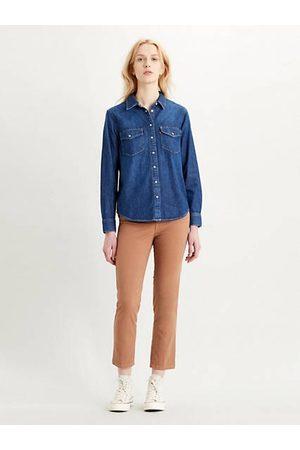 Levi's Mujer Camisas - Essential Western Shirt Dark Indigo / Air Space