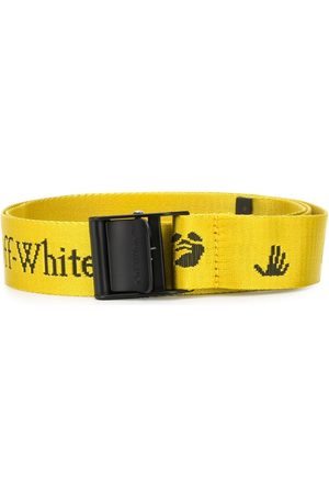 OFF-WHITE NEW LOGO CLASSIC INDUSTR BELT YELLOW BLA