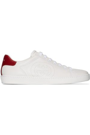 Gucci White perforated leather sneakers