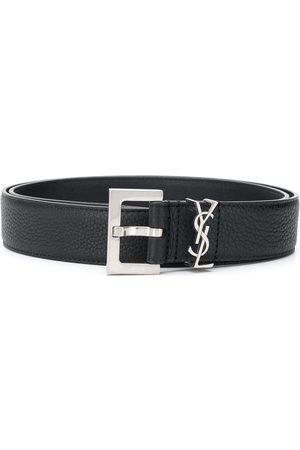 Saint Laurent Hombre Cinturones - Cinturón de cuero granulado