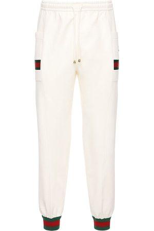 Gucci   Hombre Pantalones Deportivos De Alhodón Con Parche Gg Xs