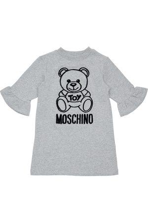 Moschino | Niña Vestido De Algodón Floqueado 8a