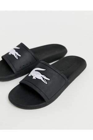 Lacoste Sandalias negras Croco de