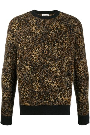 Saint Laurent Jersey con estampado de leopardo