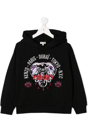 Kenzo Elephant embroidered hoodie
