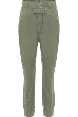 Frame Pantalones Twisted de algodón