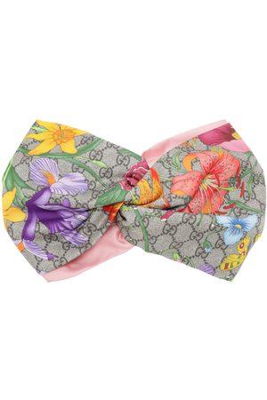Gucci | Mujer Diadema De Seda Con Estampado Floral /rosa Unique