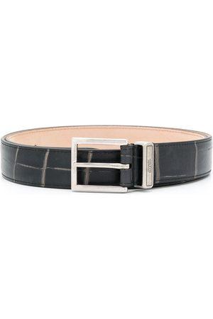 Alexander McQueen Cinturón Identity con efecto de piel de cocodrilo