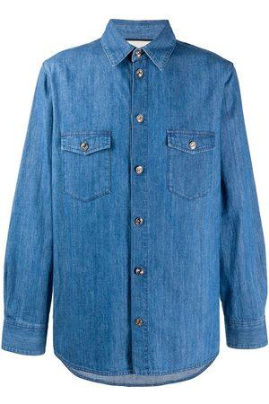 Gucci Interlocking G buttons denim shirt