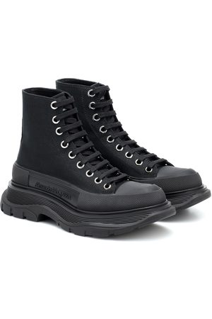 Alexander McQueen Zapatillas altas de lona