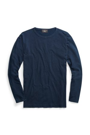 RRL Camiseta de manga larga índigo