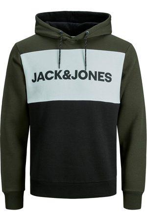 Jack & Jones CON LOGO Y ESTAMPADO COLOR BLOCK SUDADERA CON CAPUCHA