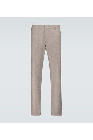 CARUSO Pantalones de lana de ajuste recto