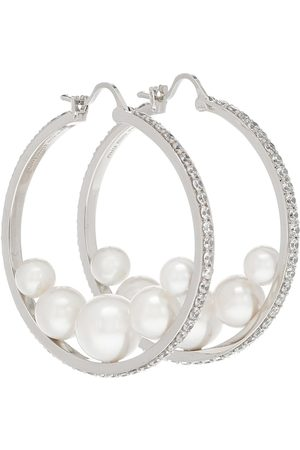 Miu Miu Embellished hoop earrings