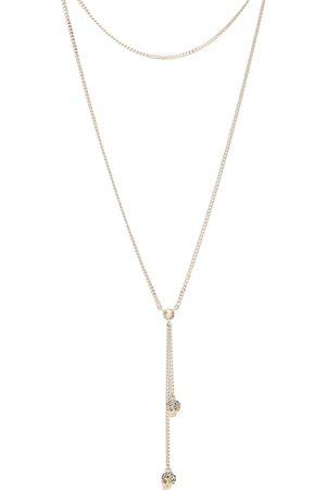 Alexander McQueen Collar de calaveras adornado con cristales