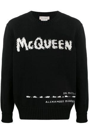 Alexander McQueen Jersey con cuello redondo y logo en intarsia