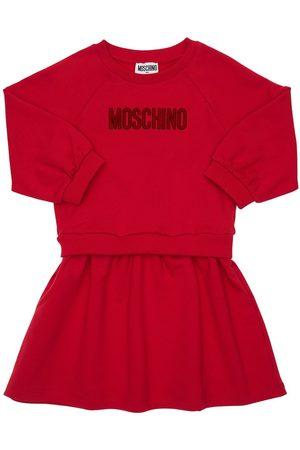 Moschino   Niña Vestido De Algodón Con Logo 8a