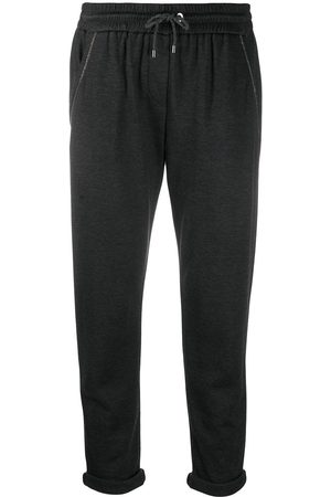 Brunello Cucinelli Mujer Pantalones slim y skinny - Pantalones de chándal tapered