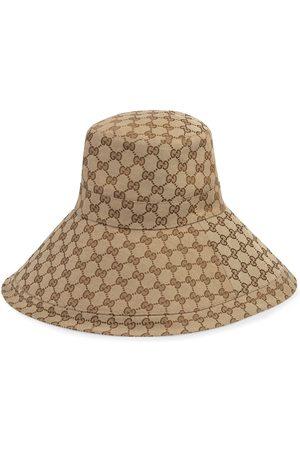 Gucci Sombrero de ala ancha con motivo GG
