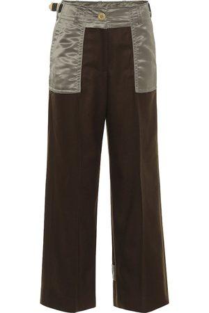 SACAI Pantalones de sarga de lana