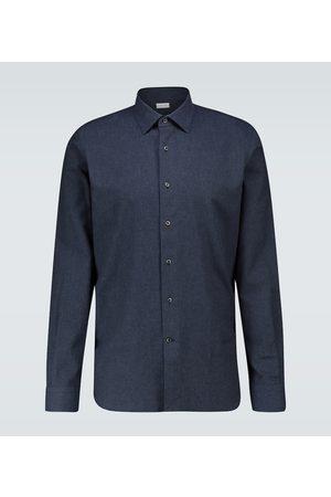 CARUSO Camisa ceñida de algodón