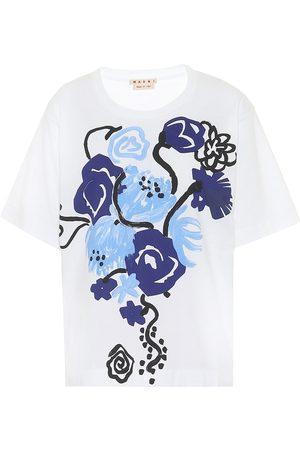 Marni Camiseta de algodón floral