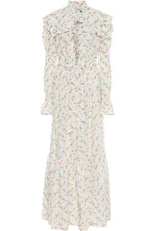 Serafini Vestido largo de muselina floral